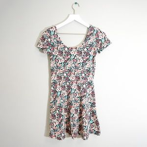 Forever 21 pink and green floral dress - Size S